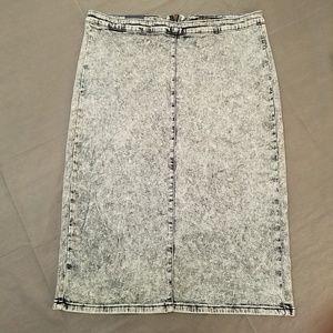 NWT Iris Jeans Full Length Denim Skirt Size 2X